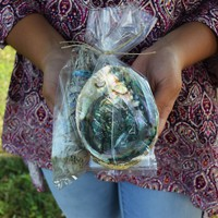 SAGE SMUDGE KIT - White Sage Smudge Stick, Abalone Shell & Instructions on How to Smudge Your Home