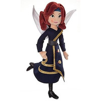 """disney store the pirate fairy zarina doll 18"""" plush toy new with tag"""