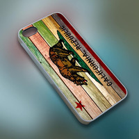 BuTum - California Republic State Flag Wood - Cell Phone Custom - iPhone 4 4s 5 5s 5c, Samsung S3 S4