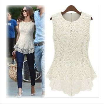 Lace Sexy Blouse with Plus Sizes