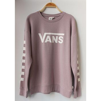 Vans Fashion Print Round Neck Top Sweater Pullover Sweatshirt