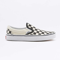 Vans Classic Black Checkerboard Slip-On Trainers - Urban Outfitters