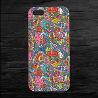 Vintage Floral Pattern Cover iPhone 4 and 5 Case