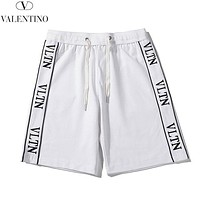 Valentino New fashion embroidery letter shorts White