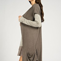 Sweater Knit Cardigan - Mocha