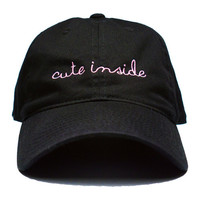 Cute Inside Cap Black & Pink