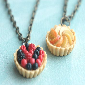 fruit tart necklace