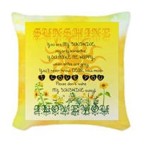 Sunshine Song Woven Throw Pillow> Positive Messages> Tree of Life Shop