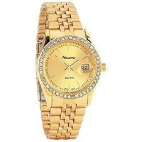 MEN GLD WATCH WITH DATE