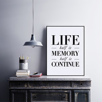 Black White Nordic Motivational Typography Life Quotes A4 Art Print Poster Wall Picture Canvas Painting No Frame Home Decoration