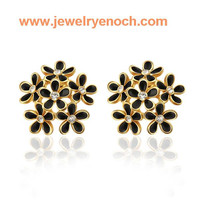 fashion  edelweiss Gold Plated Earring