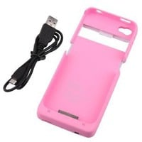 Aria Pink 1900mAh External Backup Battery Charger Case For Iphone 4 4G 4S
