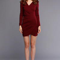 New Fashion Lady Women's Slim Folds Tight-fitting Long Sleeve Dress Sexy Lady Dress_Dresses_Women_The Latest Trends & Fashion Clothing For Women Online Store-www.dressin.com