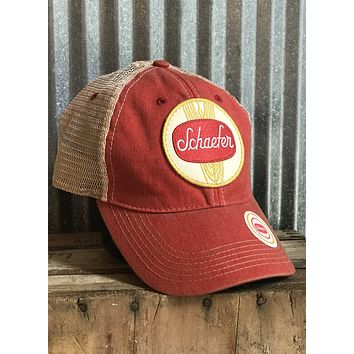 Schaefer Beer Hat-Non-Distressed Red