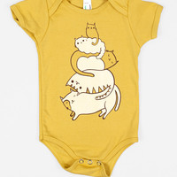 SALE: Cat Onesuit - Baby Bodysuit (Yellow)