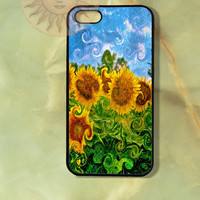 Sunflowers -iPhone 5 case, iphone 4s, iphone 4 case, Samsung GS3 case, Ipod touch case-Silicone Rubber / Hard Plastic Case, Phone cover