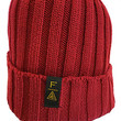 FAZE Thick Knit Beanie in maroon