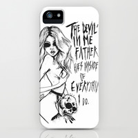 The devil is in me father. iPhone & iPod Case by Lucas David