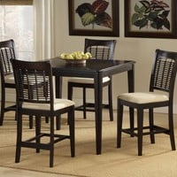 101993 Bayberry Counter Height Dining Set - Dark Cherry - Free Shipping!