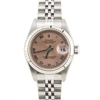 Rolex Datejust Stainless Steel & 18K White Gold Automatic Womens Watch 79174 (Certified Pre-owned)