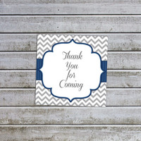 Boy Baby Shower Favors Tags Thank You for Coming Tags Printable (06ty1) Instant Download