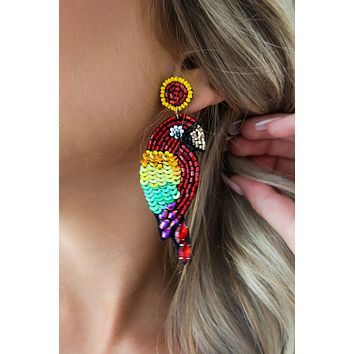 In The Rain Forest Earrings: Multi