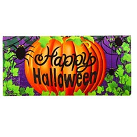 Home & Garden HALLOWEEN SPIDER INSERT MAT Synthetic Pumpkin 431228Bl