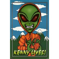 South Park Kenny Lives Alien Poster 23x35
