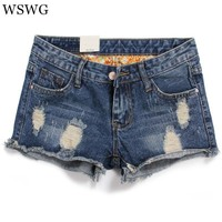 Frosted Hole Denim Shorts 2018 New Summer Women Fashion Shorts  Clothes Sexy Lady Casual Female Denim Shorts 61451