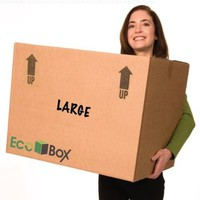 EcoBox 24 x 18 x 18 Inches Genuine Large Moving Boxes, Pack of 7 (V-6825)