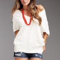 Eco Lux by Subtle Luxury Cotton Dancer Top - White