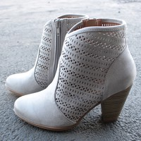 shaking it off suede ankle boots - grey