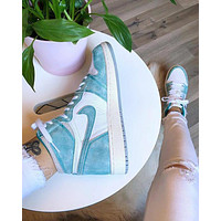 "Air Jordan 1 ""Turbo Green""AJ1 Sneaker Shoes"