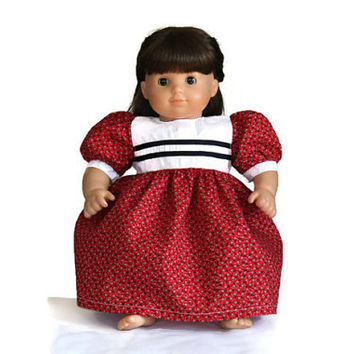 Nautical Doll Dress Retro Red White Blue 4th of July Birthday Party Summer Spring Bitty Twin 14 to 16 inch Clothes --US Shipping Included