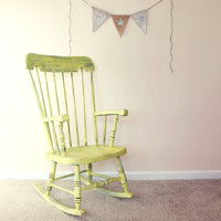 shaBBy Yellow Rocking Chair  Local Pickup/Delivery by radshabb