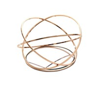 Artistically Designed Metal Table Decor, Copper -Sagebrook Home