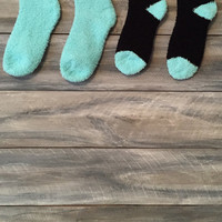 Monogram Fuzzy Socks *free shipping*