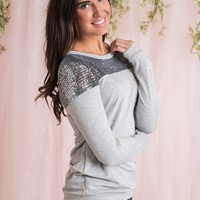 Mesmerize Sequin Top (Grey)