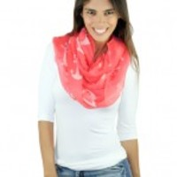 Coral Anchor Infinity Scarf