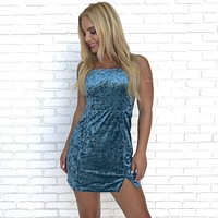 Midnight Reflections Velvet Mini Dress