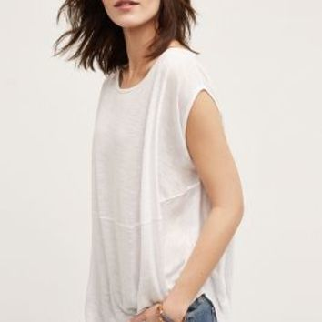 LA Made Open-Back Tee in White Size: