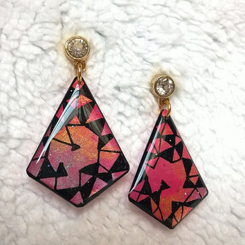 GEOMETRIC EARRING RHOMBIC SHAPE