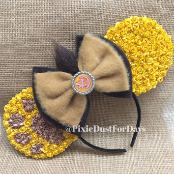 Simba Mickey ears, lion king ears, Minnie Mouse Ears, Mickey Mouse Ears, Mickey Ears, Minnie Ears