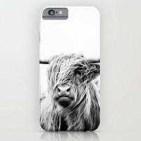 portrait of a highland cow iPhone & iPod Case by Dorit Fuhg | Society6