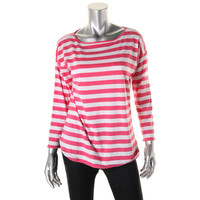 American Living Womens Cotton Striped Pullover Top