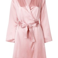 Pink Silk Robe by La Perla