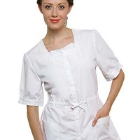 Buy Adar Women Two Pockets Square Neck Medical Uniform for $18.45