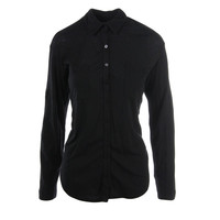 Three Dots Womens Cotton Knit Button-Down Top