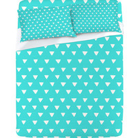 DENY Designs Home Accessories | Bianca Green Geometric Confetti Teal Sheet Set