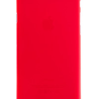 Red Frosted Transparent Soft Case for iPhone 6 Plus